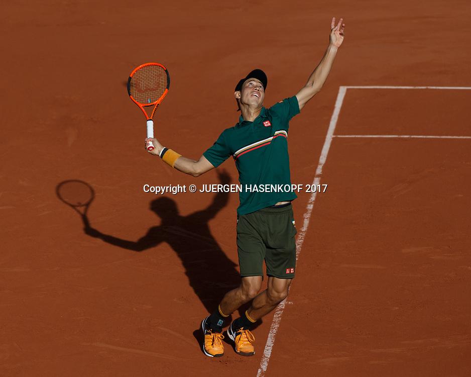 KEI NISHIKORI (JPN)<br /> <br /> Tennis - French Open 2017 - Grand Slam / ATP / WTA / ITF -  Roland Garros - Paris -  - France  - 7 June 2017.