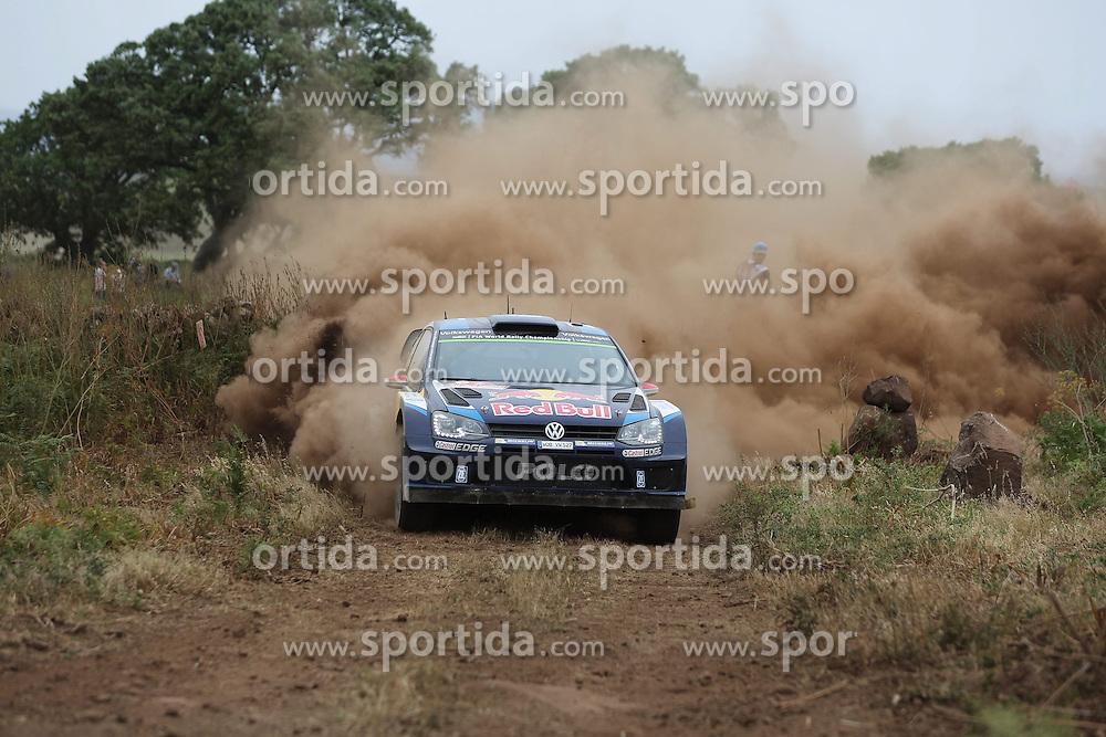 12.06.2015, Putifigari, Alghero, ITA, FIA, WRC, Rally Italia Sardegna 2015, Tag 1, im Bild Jari-Matti Latvala/Miikka Anttila (Volkswagen Motorsport/Polo R WRC) // during day one of FIA WRC Rallye Italia Sardegna 2015 at Putifigari in Alghero, Italy on 2015/06/12. EXPA Pictures &copy; 2015, PhotoCredit: EXPA/ Eibner-Pressefoto/ Bermel<br /> <br /> *****ATTENTION - OUT of GER*****