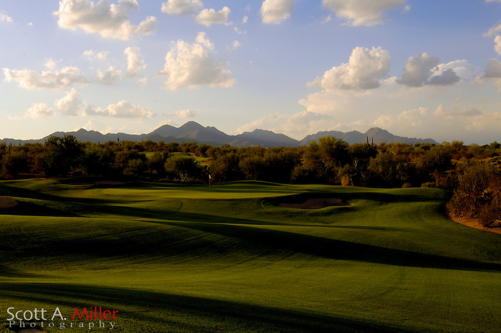 Tempe, Ariz.; Oct 21, 2006 - Hole No. 6 on the Saguaro Course at We-Ko-Pa Golf Club in Fort McDowell, Ariz....                ©2006 Scott A. Miller