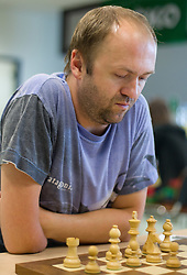 Marko Tratar in action during the Slovenian National Chess Championships in Ljubljana on August 9, 2010.  (Photo by Vid Ponikvar / Sportida)