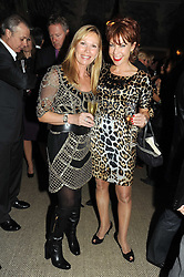 Left to right, KIT KEMP and KATHY LETTE at the Andrew Martin 2008 International Interior Designer of the Year Award held at The Haymarket Hotel, 1 Suffolk Place, London SW1 on 22nd September 2008.