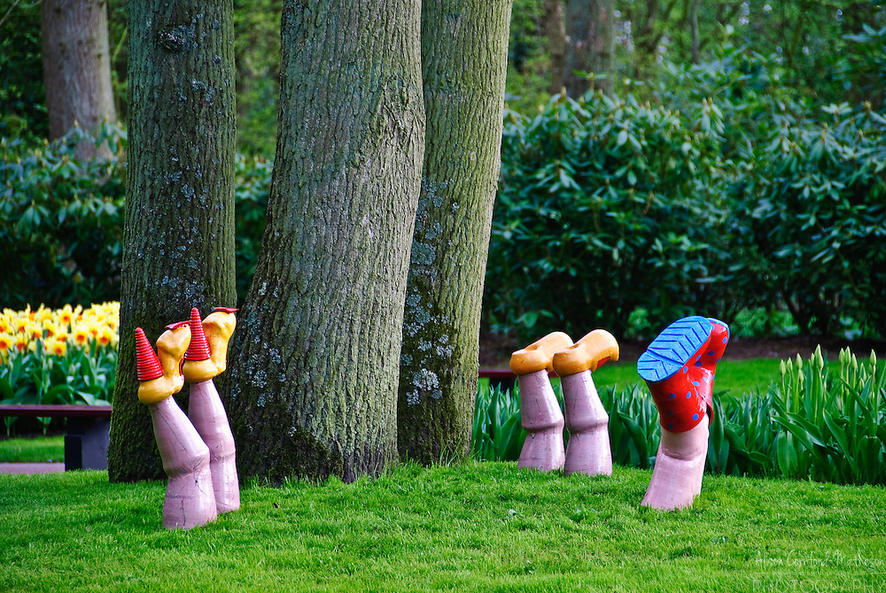 Garden Decor and art at the Keukenhof Gardens, Lisse, The Netherlands