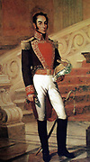 Simón Bolívar (1783 – 1830) Venezuelan political leader. Together with José de San Martín, he played a key role in Latin America's struggle for independence from Spain.