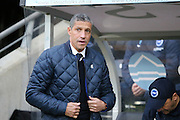 Brighton Manager, Chris Hughton during the The FA Cup match between Hull City and Brighton and Hove Albion at the KC Stadium, Kingston upon Hull, England on 9 January 2016.