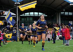 Worcester Valkyries run out on to the pitch ahead of kick off  - Mandatory by-line: Nizaam Jones/JMP - 22/09/2018 - RUGBY - Sixways Stadium - Worcester, England - Worcester Valkyries v Richmond Women - Tyrrells Premier 15s