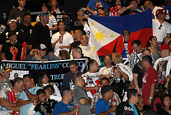 Nov 13, 2009; Las Vegas, NV, USA; 6,200+ fans pack the MGM Grand Garden Arena for the weigh-in between Manny Pacquiao and Miguel Cotto in Las Vegas, Nevada.  Mandatory Credit: Ed Mulholland