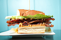 The Bacon Lettuce and Bacon Sandwich at De.Lish Cheesecakes in Florissant, MO for Feast Magazine.