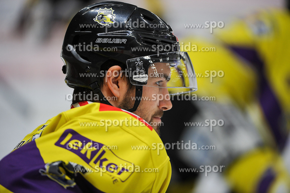 27.02.2015, Curt-Fenzel-Stadion, Augsburg, GER, DEL, Augsburger Panther vs Krefeld Pinguine, 51. Runde, im Bild Josh Meyers (Krefeld Pinguine) 27 // during Germans DEL Icehockey League 51st round match between Augsburger Panther and Krefeld Pinguineg at the Curt-Fenzel-Stadion in Augsburg, Germany on 2015/02/27. EXPA Pictures &copy; 2015, PhotoCredit: EXPA/ Eibner-Pressefoto/ Schreyer<br /> <br /> *****ATTENTION - OUT of GER*****