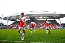 08-11-2009 VOETBAL: FC UTRECHT - HEERENVEEN: UTRECHT<br /> Utrecht verliest met 3-2 van Heerenveen / Dries Mertens, Nana Asare en Jacob Mulenga en stadion Nieuw Galgenwaard<br /> ©2009-WWW.FOTOHOOGENDOORN.NL