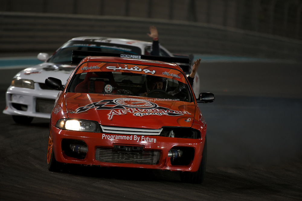 yas marina circuit, abu dhabi, 25 february 2011, drift academy cars,