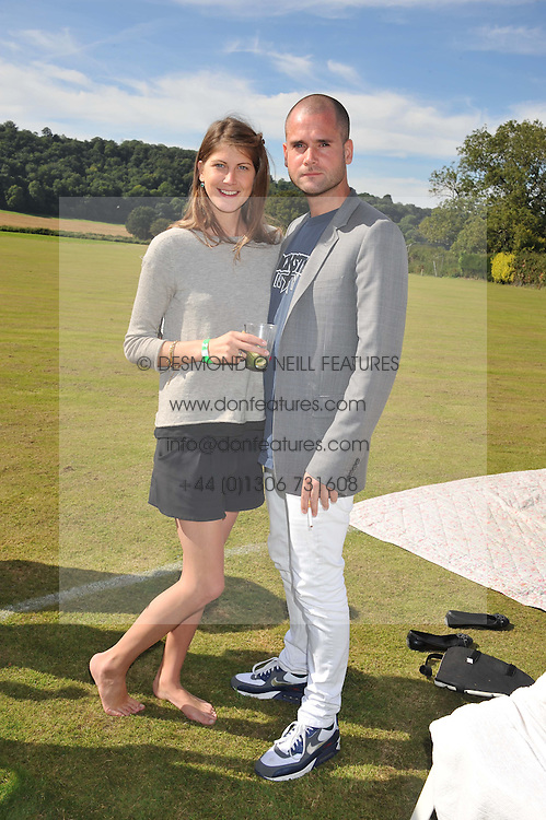 PRINCESS FLORENCE VON PREUSSEN and LYONEL TOLLEMACHE at a cricket match to in aid of CARE - Corfu Animal Rescue Establishment held at Hawkley Cricket Club, Hawkley, Hampshire on 8th September 2012.