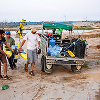 [CONTRACTORS NAMES TK] were hired by CINCIA to use their aquatic drone to capture bathymetric and basic water quality data on the ponds formed by mining in La Pampa. Understanding how deep the mining worked the soil helps estimate the amount of subsurface and ancient carbon released in the pocess. It may also help with environmental management decisions regarding how to remediate and/or use the ponds in the future. Following Peru's February 2019 militarized crackdown on illegal and unofficial alluvial gold mining in the La Pampa region of Madre de Dios, Wake Forest University's Puerto Maldonado-based Centro de Innovación Científica Amazonia (CINCIA), a leading research institution for the development of technological innovation for biological conservation and environmental restoration in the Peruvian Amazon, is applying years of scientific research and technical experience related to understanding mercury contamination and managing Amazonian ecosystems. What they learn will help guide urgent remediation, restoration, and reforestation efforts that can also serve as models for how we address the tropic's most dramatically devastated landscapes around the world. La Pampa, Madre de Dios, Peru.