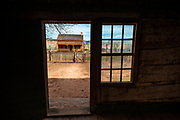 The view from the Louisa Marie Russell house, Grafton ghost town, Utah USA
