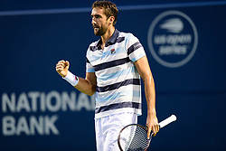August 10, 2018 - Toronto, ON, U.S. - TORONTO, ON - AUGUST 10: Marin Cilic (CRO) celebrates after winning a point during his Quarter-Finals match of the Rogers Cup tennis tournament on August 10, 2018, at Aviva Centre in Toronto, ON, Canada. (Photograph by Julian Avram/Icon Sportswire) (Credit Image: © Julian Avram/Icon SMI via ZUMA Press)