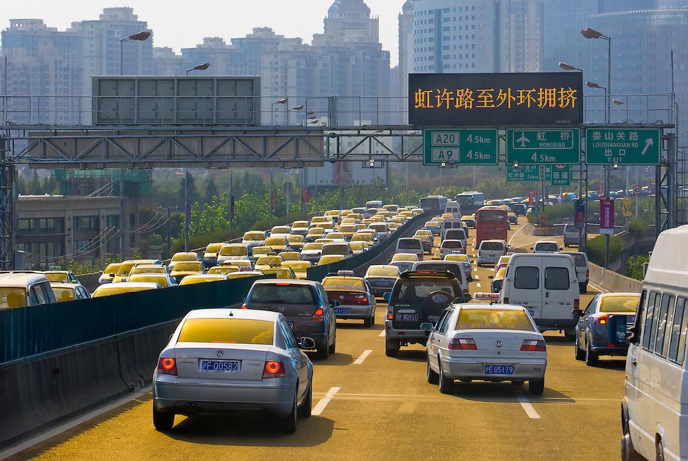 Highway traffic, Shanghai, China