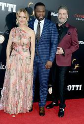 "Kelly Preston, Curtis Jackson (aka 50 Cent) and John Travolta at the premiere of ""Gotti"" in New York City."