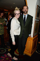 PATRICK GRANT and EMMA WHITEHAIR at a 1970's themed party as part of Annabel's 50th anniversary celebrations, held at Annabel's, Berkeley Square, London on 24th September 2013.