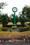 A clock that displays the time of a killer tsunami that hit Hilo Hawaii at 1:04 AM on May 19, 1960.