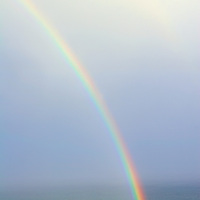 Atlantic Rainbow in misty light, County Kerry, Ireland / rb004