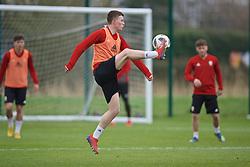 NEWPORT, WALES - Thursday, March 21, 2019: Wales' Nathan Broadhead during an Under-21 training session at Dragon Park. (Pic by David Rawcliffe/Propaganda)