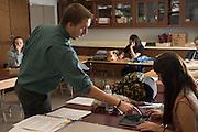 Dane Salabak teaches an Internship class at Federal Hocking High School.