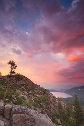 """Donner Lake Sunset 20"" - Photograph of a colorful sunset above Donner Lake in Truckee, California."