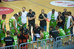 National Team Slovenia during friendly basketball match between National teams of Slovenia and Ukraineat day 1 of Adecco Cup 2015, on August 21 in Koper, Slovenia. Photo by Grega Valancic / Sportida