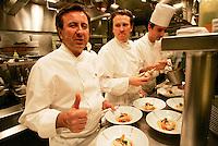 Daniel Boulud in his kitchen in New York, Restaurant Daniel