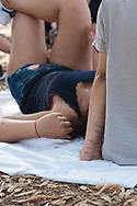 Roma, 15/07/2017: Gita in sidecar dei pazienti del reparto degenza del dipartimento di Neuropsichiatria infantile in via degli Apuli.<br /> &copy;Andrea Sabbadini