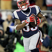 FOXBOROUGH, MASSACHUSETTS - JANUARY 14: Running back Dion Lewis #33 of the New England Patriots scores the first of his touchdowns during the Houston Texans Vs New England Patriots Divisional round game during the NFL play-offs on January 14th, 2017 at Gillette Stadium, Foxborough, Massachusetts. (Photo by Tim Clayton/Corbis via Getty Images)