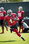 San Francisco 49ers linebacker Donavin Newsom (48) runs through drills during the San Francisco 49ers training camp held at their practice facility in Santa Clara, California, on August 17, 2017. (Stan Olszewski/Special to S.F. Examiner)