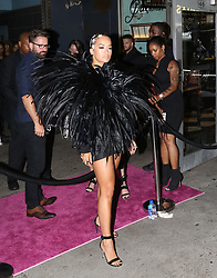 Rita Ora wears a wild feather dress to MTV VMA after party in NYC. 20 Aug 2018 Pictured: Rita Ora. Photo credit: TS / MEGA TheMegaAgency.com +1 888 505 6342