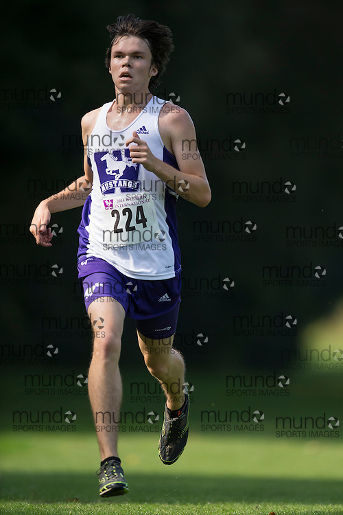 Shane Roberts of the Western Mustangs runs at the 2014 Western International Cross country meet in London Ontario, Saturday,  September 20, 2014.<br /> Mundo Sport Images/ Geoff Robins