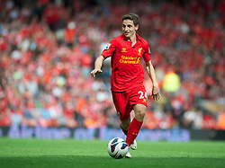 02.09.2012, Anfield, Liverpool, ENG, Premier League, FC Liverpool vs FC Arsenal, 2. Runde, im Bild Liverpool's Joe Allen in action against Arsenal during the English Premier League 2nd round match between Liverpool FC and Arsenal FC at Anfield, Liverpool, Great Britain on 2012/09/02. EXPA Pictures © 2012, PhotoCredit: EXPA/ Propagandaphoto/ David Rawcliff..***** ATTENTION - OUT OF ENG, GBR, UK *****