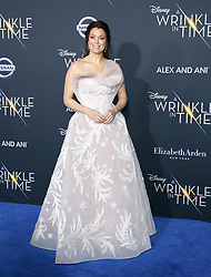Bellamy Young at the Los Angeles premiere of 'A Wrinkle In Time' held at the El Capitan Theater in Hollywood, USA on February 26, 2018.