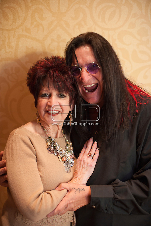 24th February 2011. Las Vegas, Nevada.  Celebrity Impersonators from around the globe were in Las Vegas for the 20th Annual Reel Awards Show. Pictured is Don Rugg, 54,as Ozzy Osbourne and Barbara Drake as Sharon Osbourne. Photo © John Chapple / www.johnchapple.com..