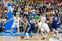 Nemanja Gordic of Bosnia and Herzegovina during friendly match between National teams of Slovenia and Bosnia and Herzegovina for Eurobasket 2013 on August 16, 2013 in Podmezakla, Jesenice, Slovenia. (Photo by Urban Urbanc / Sportida.com)