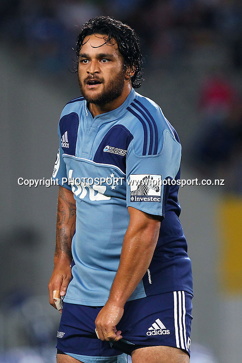 Blues' Piri Weepu. Super Rugby rugby union match, Blues v Crusaders at Eden Park, Auckland, New Zealand. Friday 24th February 2012. Photo: Anthony Au-Yeung / photosport.co.nz