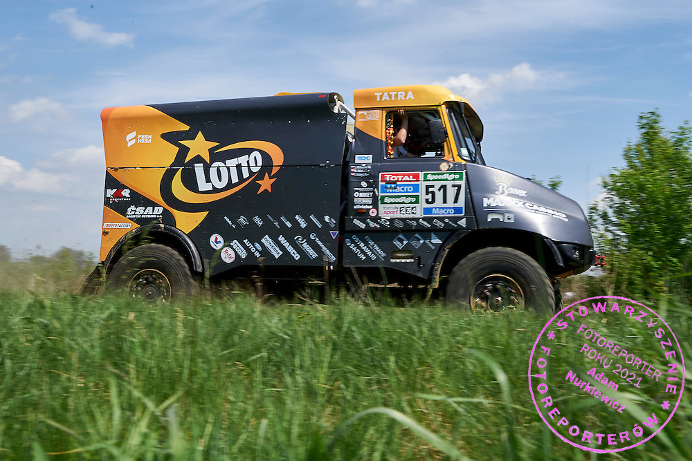Jaroslaw Kazberuk from Poland drives his car Tatra 815 during training session on rally cross track on May 19, 2015 in Slomczyn, Poland<br /> <br /> Poland, Slomczyn, May 19, 2015<br /> <br /> Picture also available in RAW (NEF) or TIFF format on special request.<br /> <br /> For editorial use only. Any commercial or promotional use requires permission.<br /> <br /> Adam Nurkiewicz declares that he has no rights to the image of people at the photographs of his authorship.<br /> <br /> Mandatory credit:<br /> Photo by &copy; Adam Nurkiewicz / Mediasport