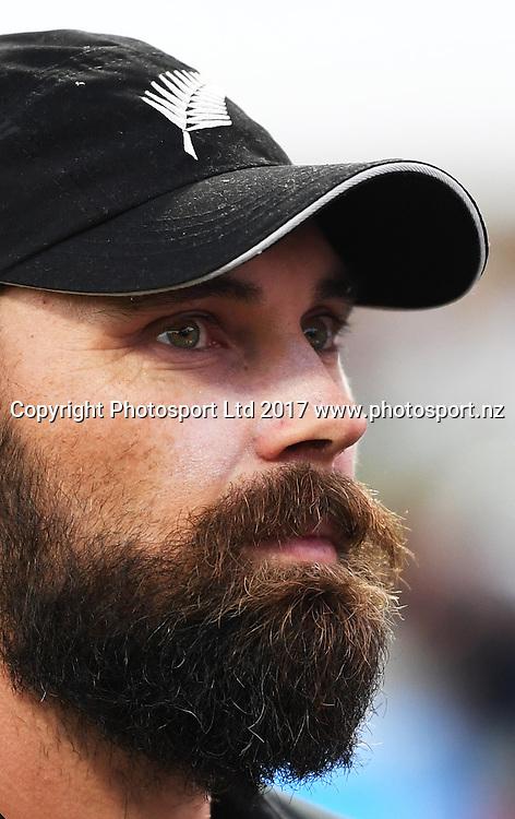 Dean Brownlie. One Day International Cricket. New Zealand Black Caps v South Africa Proteas. Seddon Park, Hamilton, New Zealand. Sunday 19 February 2017 © Copyright photo: Andrew Cornaga / www.photosport.nz