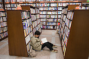 Yeongpung Book Store, the country's second largest. Shppers test-reading potential buys.