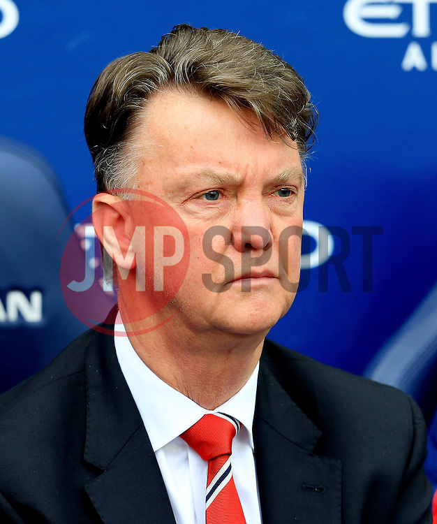 Manchester United Manager, Louis van Gaal  - Mandatory byline: Matt McNulty/JMP - 20/03/2016 - FOOTBALL - Etihad Stadium - Manchester, England - Manchester City v Manchester United - Barclays Premier League