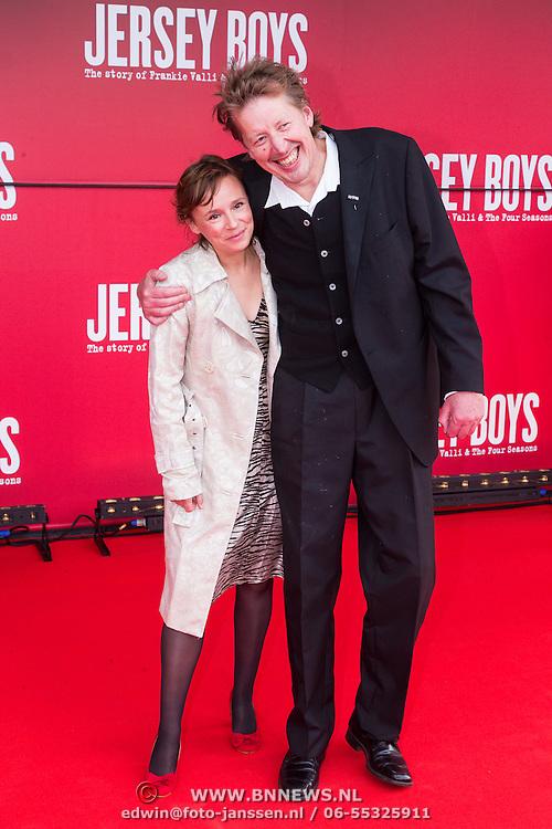 NLD/Utrecht/20130922 - Premiere Jersey Boys, Jan Rot en partner Daan de Launay