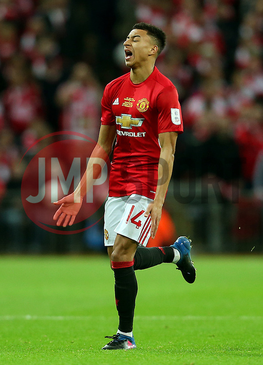 Jesse Lingard of Manchester United reacts in frustration - Mandatory by-line: Matt McNulty/JMP - 26/02/2017 - FOOTBALL - Wembley Stadium - London, England - Manchester United v Southampton - EFL Cup Final