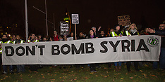 1 Dec 2015 - London protest in last effort to head off UK bombing in Syria.
