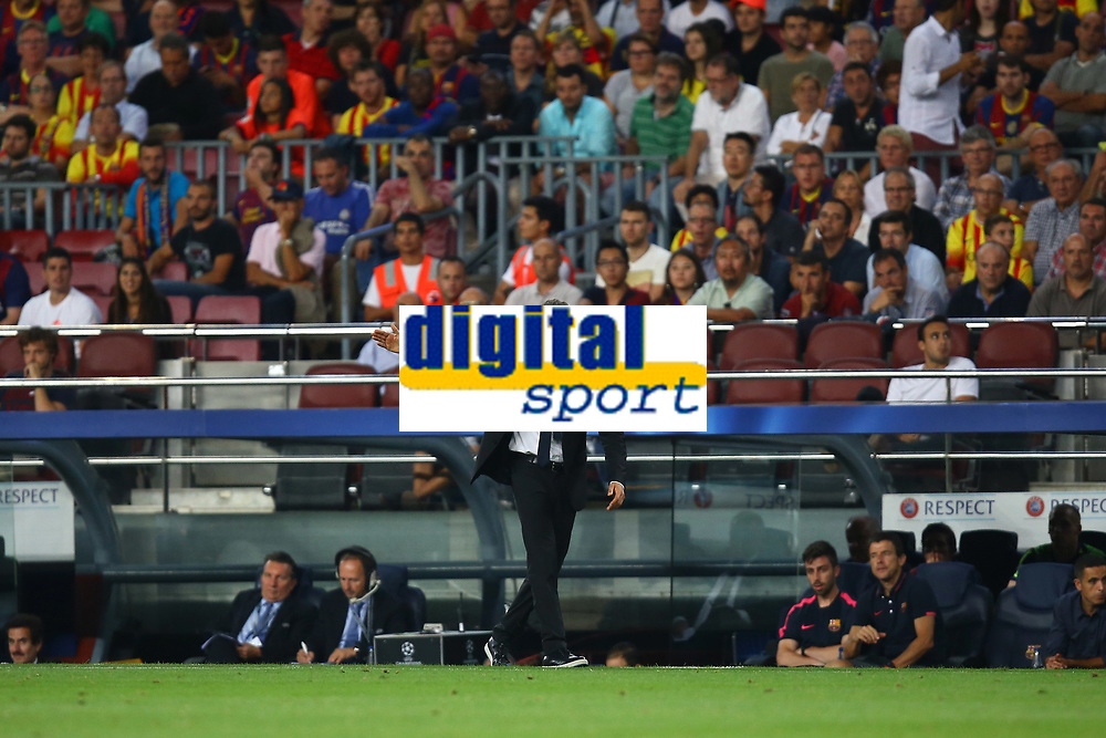 Head coach Luis Enrique of FC Barcelona during the UEFA Champions League, Group F, football match between FC Barcelona and Apoel FC on September 17, 2014 at Camp Nou stadium in Barcelona, Spain. Photo Manuel Blondeau / AOP.Press / DPPI