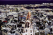 Reykjavik in December, seen from Hallgrimskirkaja Church. Iceland. Material World Project.