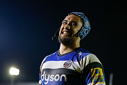 Bath Number 8 Leroy Houston smiles after his side win the match - Photo mandatory by-line: Rogan Thomson/JMP - 07966 386802 - 03/10/2014 - SPORT - RUGBY UNION - Bath, England - The Recreation Ground - Bath Rugby v Saracens - Aviva Premiership.