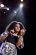 Marsha Ambrosious of the group Floetry performs during the Summer Spirit Festival 2015 at Merriweather Post Pavilion in Columbia, MD on Saturday, August 8, 2015.