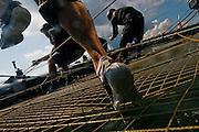 Sailors for Energy Team France train during a practice day before the America's Cup World Series event in Newport, RI.